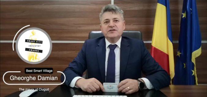 """Ciugud, singura comună din România premiată la Gala """"Smart City Industry Awards"""""""